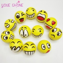 YOUE SHONE Squeeze Relief Hand Massage Relaxation Ball Smiley Face Anti Stress Reliever Ball Autism Mood Toy Wholesale