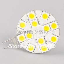 (wide volt AC/DC10-30V) Led G4 Lamp 12LED 5050 SMD Warm White/White Commercial Engineering Indoor