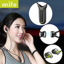 mifo i2 Necklace Wireless Earphone Sport Bluetooth Headset Waterproof Subwoofer Stereo Mp3 Player Neckband Earbuds Recording Pen(China)