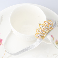 M MISM Unisex Kids Fashion Tiaras Headband Perfect Quality Glittering Crown Hair Accessories for Child Hair Band Solid Ornaments