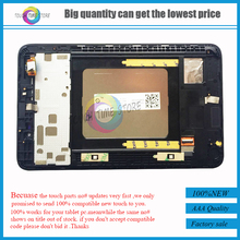 for Lenovo A7-50 A3500 LCD Display Panel Screen Monitor + Touch Screen Digitizer Glass Sensor Assembly + Frame Bezel Housing
