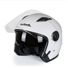BRAND Fashion Motorcycle 4 Seasons Helmets Open Face Helmet Electrical Scooter Capacete Casco Dual Lens Riding Half helmet