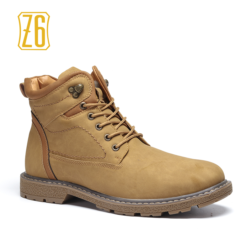 40-45 men boots warm comfortable 2018 working safety men winter shoes #K8063-7