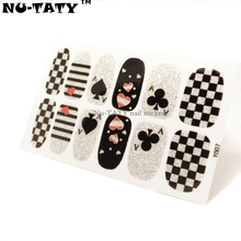 Nu-TATY Plum spades Flash Nail Sticker Gel Polish French Manicure Patch Full Tape Waterproof Nail Decal Sticker Makeup Tools