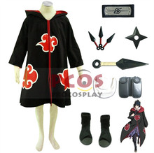 Best Set~ Naruto Team Taka Hawk Sasuke Uchiha Cosplay Costume Outfits