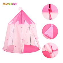 Children Princess Castle Baby Play Game Tent PlayHouse Kids Girls Garden House Outdoor Beach Picnic Travel Toy Pink Color(China)