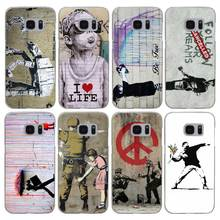 H264 Street Art Banksy Graffiti Transparent Hard PC Case Cover For Samsung Galaxy S 3 4 5 6 7 8 Mini Edge Plus Note 3 4 5 8(China)