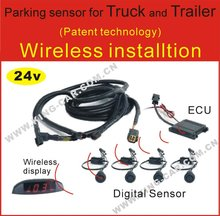 24Voltage wireless digital parking sensor reverse sensor wireless LED display for truck pickup truck bus coach car