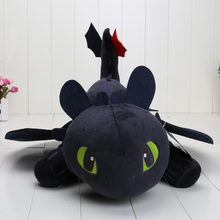 10pcs/lot 55cm Night Fury Plush Toy How To Train Your Dragon 2 Toothless Dragon Stuffed Animal Dolls
