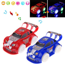 New Battry Power Flashing LED Light Gimbal Wheel Music Car Toy Child Kid Gifts Random Color