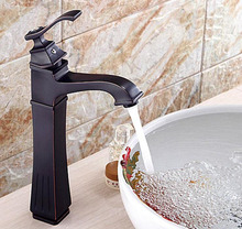 Antique black wash basin faucet hot and cold, Copper bathroom sink basin faucet, Oil Rubbed Bronze basin faucet mixer water tap