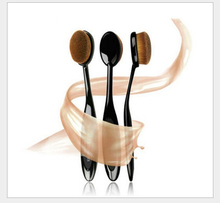 2016 New arrival brand 1pcs Pro Cosmetics Makeup brushes Face Powder Toothbrush Curve Foundation Brush(China)