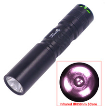 C3 Infra red IR 850nm 3w 3-Core Invisible Light For Hunting 850nm infrared ray LED Flashlight Flash Light Lantern