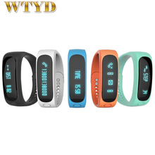E02 Bluetooth 4.0 Smart Sports Bracelet Support Camera Remote / Video Remote / Sport Tracking / Sleep Tracking / Watch Function