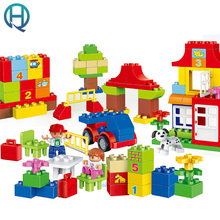 HuiMei Fun Learning Paradise  Big Building Blocks Bricks Baby Early Educational Learning Train Birthday Toys for Kids Children