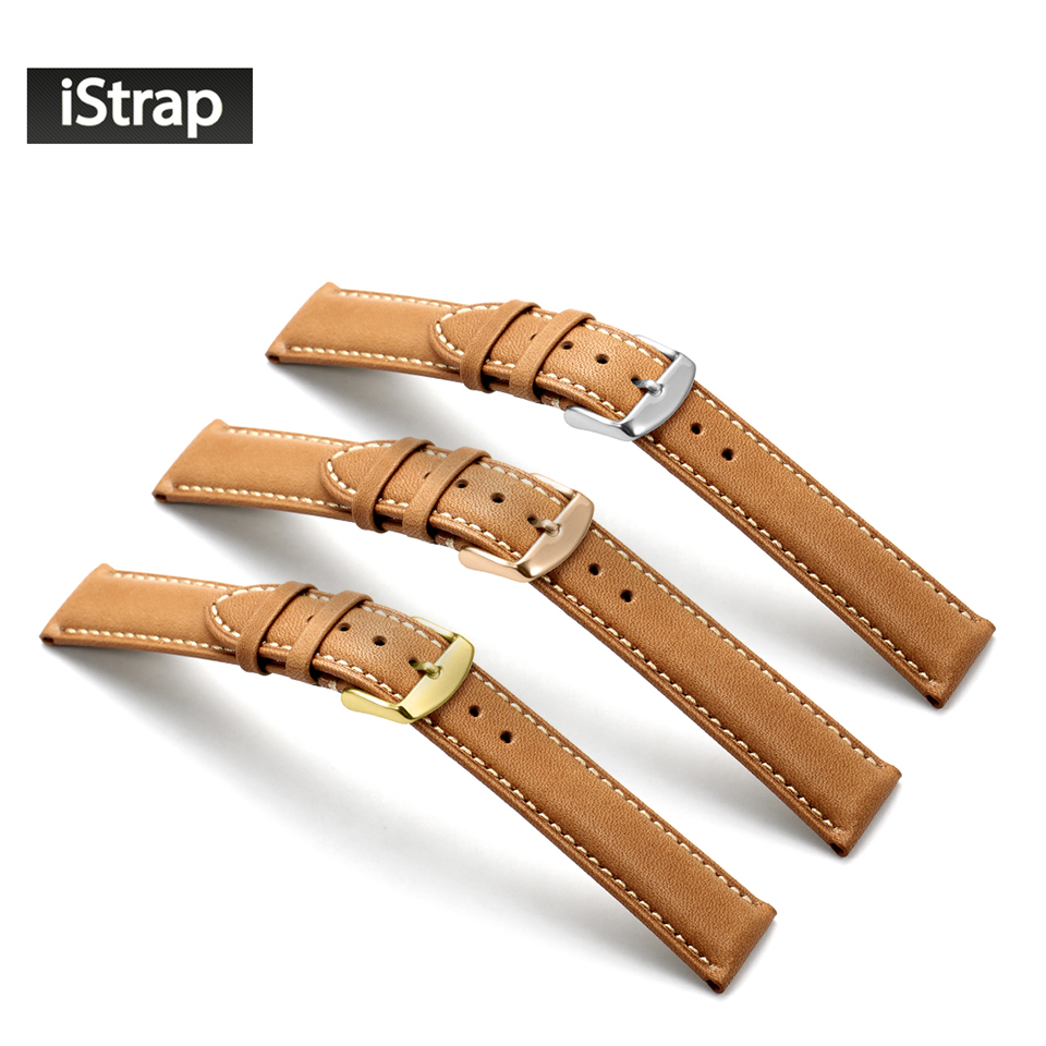 iStrap New Fashion 18mm 19mm 20mm 21mm 22mm Brown Vintage Watch Band Strap Genuine Leather Watchband for Tissot Seiko Omega IWC<br><br>Aliexpress