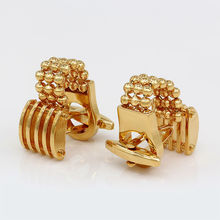 Chain Link Cufflinks Gold-color Shirt Cuff High Quality Men's Shirts Cufflinks Free Shipping(China)