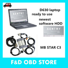 2017 Best for Mercede Benz Diagnosis MB Star C3 Multiplexer Scanner Tool + XENTRY Software HDD + de-ll d630 Laptop Free Shipping