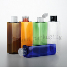 20pcs/lot 250ml empty square  plastic bottles with flip top cap ,250ml travel PET makeup bottle for cosmetic packaging