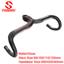 Buy TOSEEK full carbon fiber road bike handlebar bicycle bent bar integrated handlebar 3K Gloss/matte bike parts for $52.37 in AliExpress store