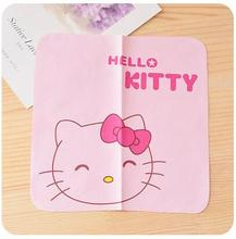 Cartoon Hello Kitty Soft Microfiber Eyeglass Computer Screen Glasses Cleanning Cloth Size 15*15CM(China)