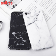 Imd Marble Stone Gel Case for Apple iPhone 7 6s 6 Plus 5 5s Cases Black White Soft Tpu Squishy phone Case Back Cover Coque