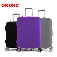 OKOKC Thicken Wearable Pure Color Travel Luggage Suitcase Protective Cover,Stretch, made for S/M/L/XL, Apply to 18-32inch Cases