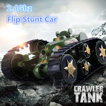 2017 NEWEST Children's toy car SPACE ROVER 666-888 360 degree roll Stunt dumpers one key RC TRANSFORM TANK CAR TOY with light(China)
