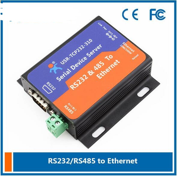USR-TCP232-310 Serial Device Server RS232/RS485 to Ethernet TCP/IP Converter Server with DHCP and Built-in Webpage<br><br>Aliexpress