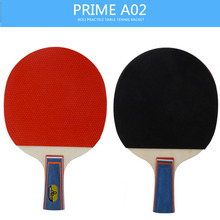 BOER 2 Pcs/Set Table Tennis Rackets Ping Pong Paddle Start Practice Grip Durable rubber Short Handle Long Handle with 3 Balls