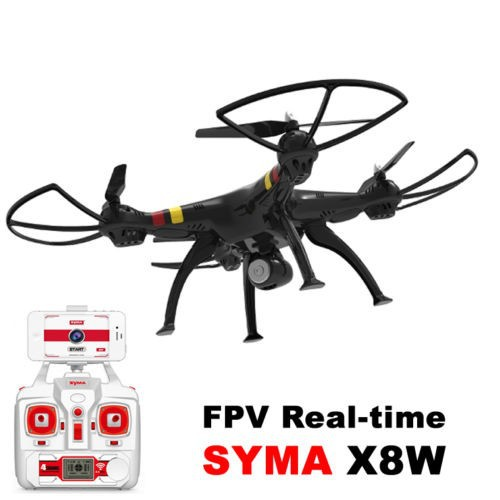 Professional drone Syma X8W 2.4G 4ch 6 Axis RC Quadcopter with HD WIFI FPV wide Angle camera RTF Helicopter<br><br>Aliexpress