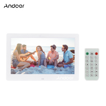 "Andoer 10.1"" HD Digital Photo Frame Wide Screen High Resolution Digital Picture Frame MP4 Movie Player w/ Remote Control Gift"