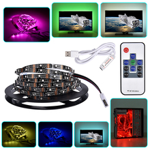 USB LED Strip 3535 RGB 5V Computer Car Bike Decor CRI90 Tape Ribbon Light Lamp for TV Background Lighting 1m 2m 3m + Controller