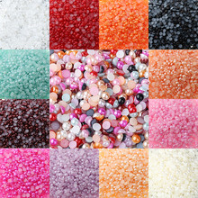 Free Shipping Multicolor 4mm 500Pcs/ABS Imitation Pearls Half Round Flatback Scrapbook Beads Decorate For DIY Jewelry Making