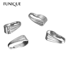 FUNIQUE 50PCs Silver Tone Stainless Steel Pinch Push Clasps Jewelry Findings 9x3.5mm DIY Jewelry Findings(China)