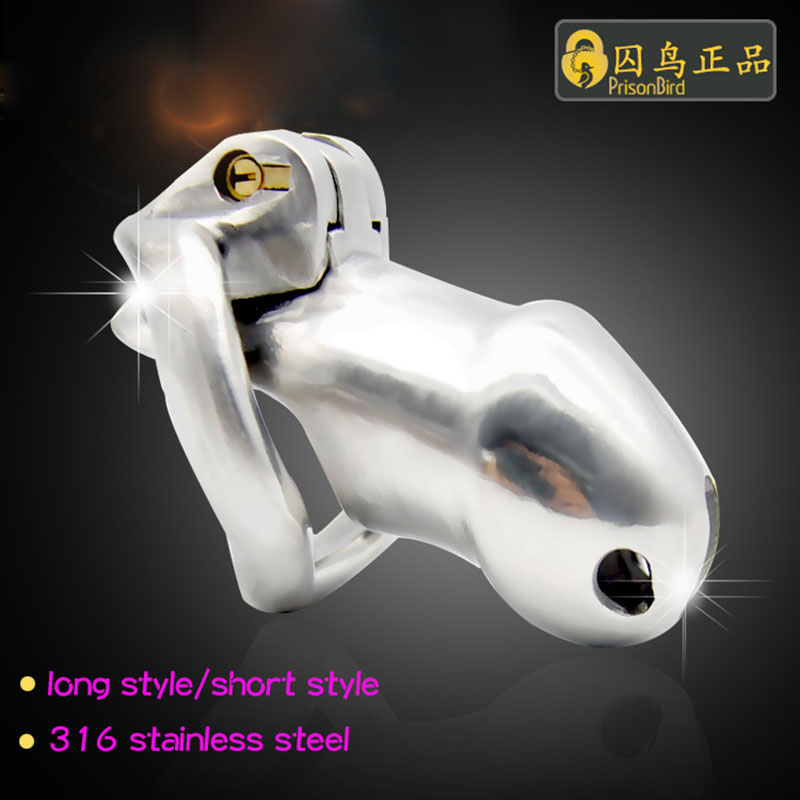 High quality 316 stainless steel penis cage long/short style male chastity device with cock ring adult sex toys for men chastity<br>