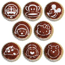 8Pcs/Set Cartoon Bear Latte Coffee Stencils Hello Kitty Cake Mold Fondant Cookies Baking Tools Art DIY Tools  D09