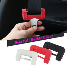 2x Car Seat Belt Buckle Cover For VW Golf 4 Subaru Volvo Audi Seat Leon Honda Civic BMW Mini Cooper Kia Ceed Hyundai Toyota Lada(China)