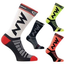 NEW Mens Womens Riding Cycling Socks Bicycle sports socks Breathable Socks Basketball Football Socks Fit for 40-46(China)