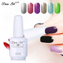 Beau Gel 15ML Multi Color Starry Gel Nail Varnish Soak Off Semi Permanent Color Polishing for Nails Professional Nail Art Design