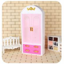 Doll Accessories 1 Pc Princess Bedroom Furniture Closet Wardrobe For Barbie Dolls Toys Child Gifts