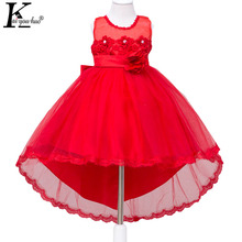 Chiffon Girls Dress Party Children's Princess Tutu Dress Vestidos Girls Clothes Flower Lace Wedding Dress 3 4 5 6 7 8 9 10 Years