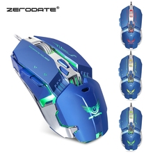 ZERODATE X800 Wired Mouse Gaming Mouse with LED Light 3200DPI Adjustable Weight Mouse Gamer for PC Laptop Mouse Razer(China)