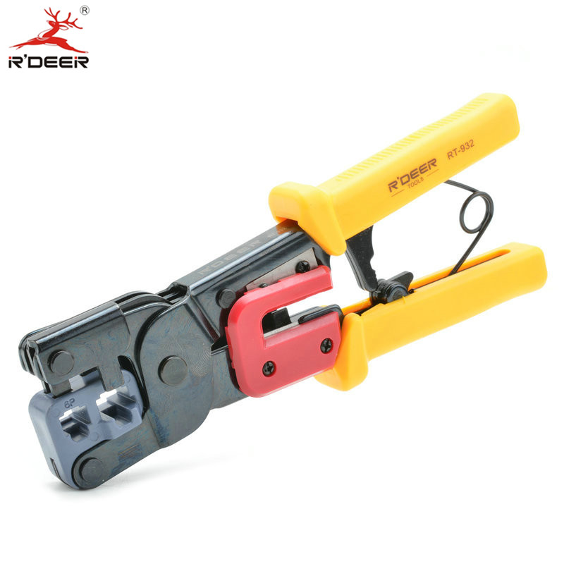 RDEER 2in1 Network Crimping Tool (6P/8P) Crimping Pliers Wire Cable Cutting Stripper Crimp Multitool Hand Tools<br><br>Aliexpress