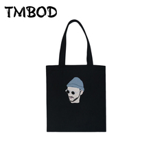 New 2017 Casual Classic Man Kid Pattern Tote Shopping Bag Girls Women Canvas Handbags For Female Shoulder Bags Bolsas an666