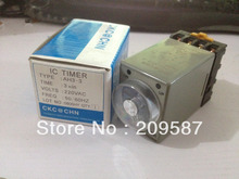 220V Power on delay timer time relay 0-3 minute 3m & Base