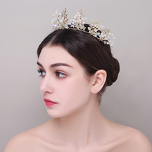 New Wedding Bridal Crystal Tiaras Crowns Princess Queen Prom Rhinestone Tiara Headband Golden Wedding Hair Accessories Jewelry