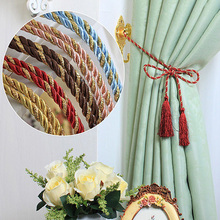 New Fasion Beautiful Rope Tassel Window Curtain Fringe Tiebacks Tie Holder Decorative Room Decor Color(China)