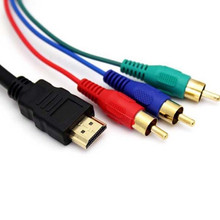 Audio Video Cables Component Male Adapter HDMI TO 3RCA AV Component Convert Cable Cord For LCD TV TVs Projector DVD PS2 PS3 Wire