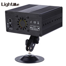 Professional 9W 24 Patterns RGB Laser Projector Stage Effect Light Voice Control Party Disco DJ Lights with Remote Controller